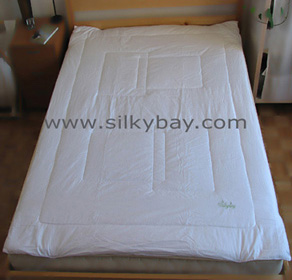 Silkybay 100% Silk Filled Mattress Pad - Queen