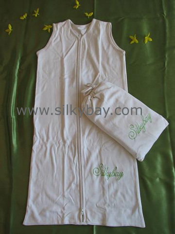 68% Silk 32% Cotton Baby Sleeping Bag 0~6 Months